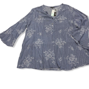 Primary Photo - BRAND: PAPERMOON STYLE: TOP LONG SLEEVE COLOR: BLUE SIZE: 3X SKU: 190-190106-51976