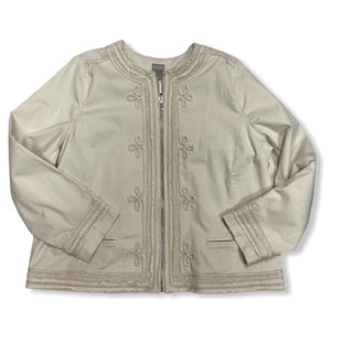 Primary Photo - BRAND: CHICOS STYLE: JACKET OUTDOOR COLOR: OFF WHITE SIZE: XL SKU: 190-190158-759