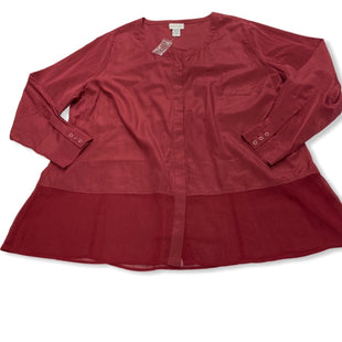 Primary Photo - BRAND: SOFT SURROUNDINGS STYLE: TOP LONG SLEEVE COLOR: RED SIZE: 3X SKU: 190-190140-17393