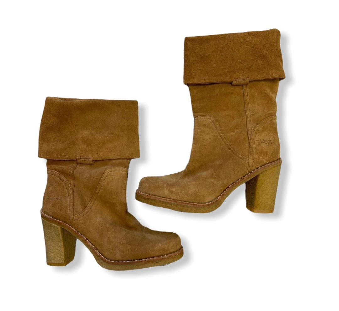 Primary Photo - BRAND: UGG <BR>STYLE: BOOTS ANKLE <BR>COLOR: CAMEL <BR>SIZE: 8 <BR>SKU: 190-190106-50859