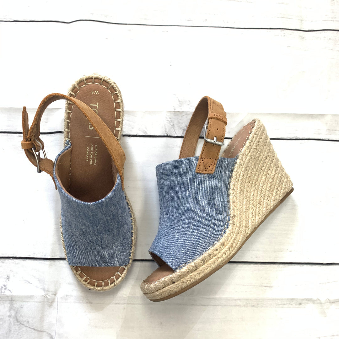 Primary Photo - BRAND: TOMS <BR>STYLE: SANDALS HIGH <BR>COLOR: BLUE <BR>SIZE: 6 <BR>SKU: 190-190125-32604