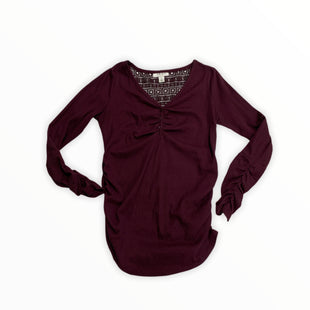 Primary Photo - BRAND: MOTHERHOOD STYLE: MATERNITY TOP LONG SLEEVE COLOR: PLUMSIZE: S SKU: 190-190140-22676