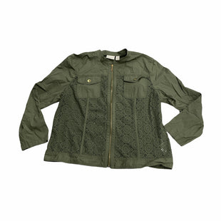 Primary Photo - BRAND: CHICOS STYLE: JACKET OUTDOOR COLOR: GREEN SIZE: XL OTHER INFO: NEW! SKU: 190-190106-55808