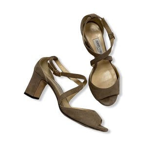 Primary Photo - BRAND: JIMMY CHOO STYLE: SHOES DESIGNER COLOR: TAN SIZE: 6.5 SKU: 190-190106-53273