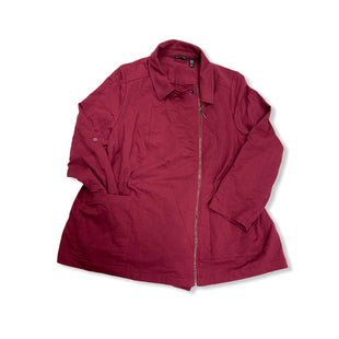 Primary Photo - BRAND: HALSTON STYLE: JACKET OUTDOOR COLOR: BURGUNDY SIZE: 2X SKU: 190-190125-36551