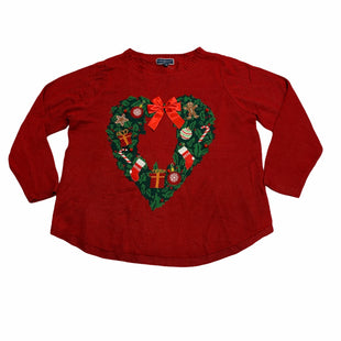 Primary Photo - BRAND: KAREN SCOTT STYLE: SWEATER LIGHTWEIGHT COLOR: RED SIZE: 2X SKU: 190-190125-27329