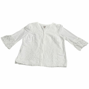 Primary Photo - BRAND: CHICOS STYLE: TOP LONG SLEEVE COLOR: WHITE SIZE: 1X OTHER INFO: NEW! SKU: 190-190106-56286