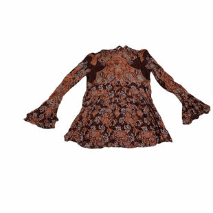 Primary Photo - BRAND: FREE PEOPLE STYLE: DRESS SHORT LONG SLEEVE COLOR: BROWN SIZE: S SKU: 190-190125-40921