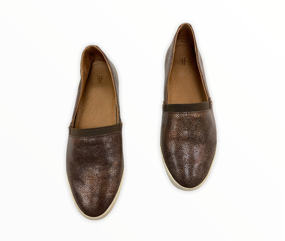 Primary Photo - BRAND: FRYE <BR>STYLE: SHOES FLATS <BR>COLOR: BRONZE <BR>SIZE: 6.5 <BR>SKU: 190-19060-47538