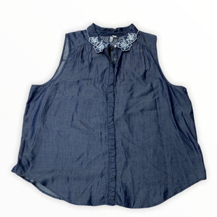 Primary Photo - BRAND: ELLE STYLE: TOP SLEEVELESS COLOR: DENIM BLUE SIZE: 1X OTHER INFO: NEW! SKU: 190-190140-24143