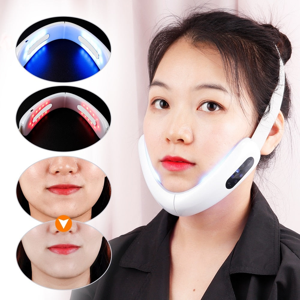 V-Line Up Lift Belt Machine Therapy Facial Lifting Device Face Slimming - Lavish Online Shoppe