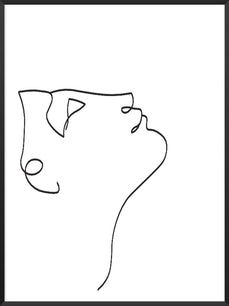 look-up-line-art-face-poster-product-picture