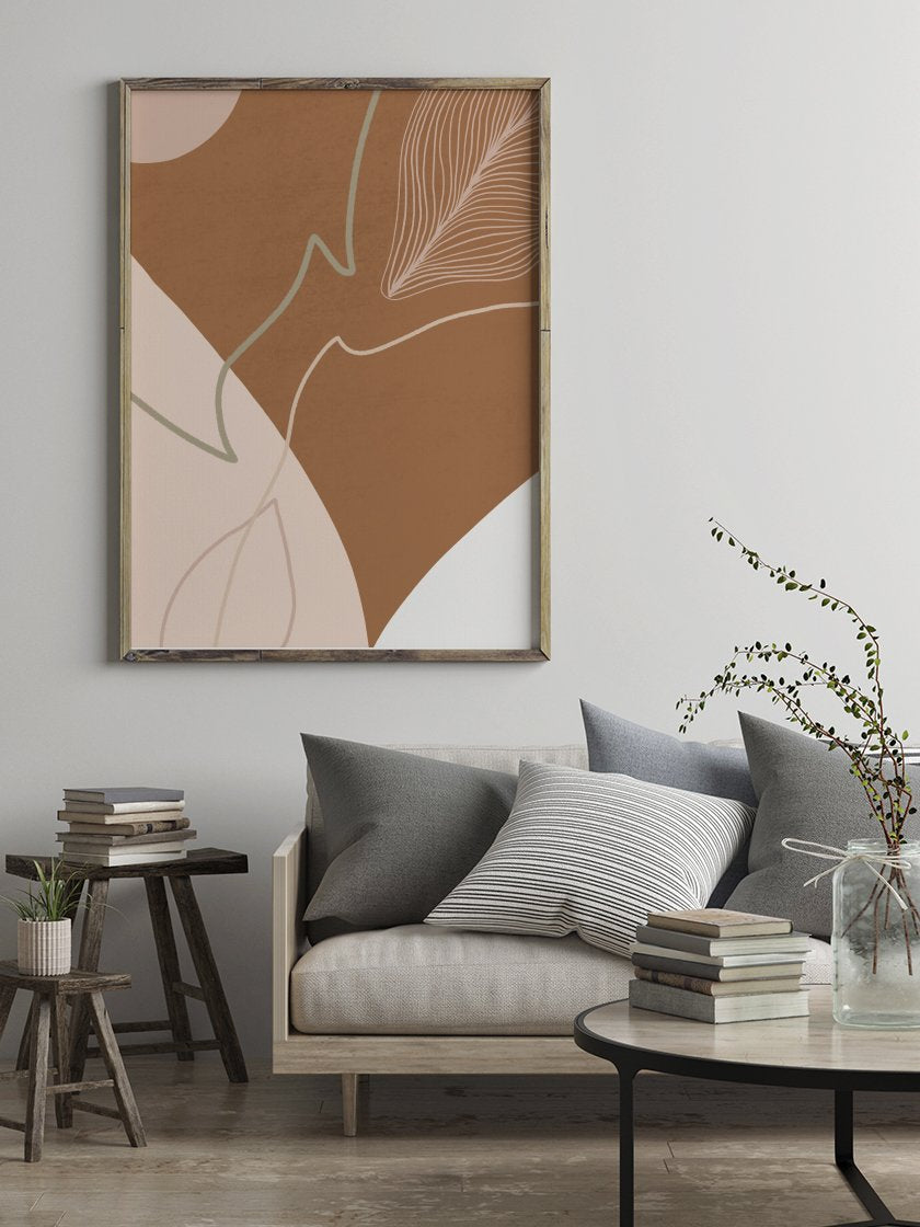 project-nord-autumn-shapes-burnt-orange-abstract-poster-in-living-room