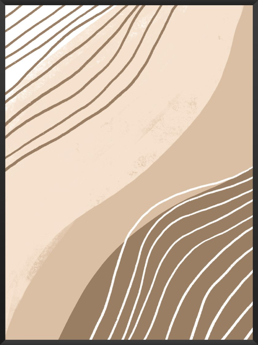 project-nord-beige-lines-poster-product-picture
