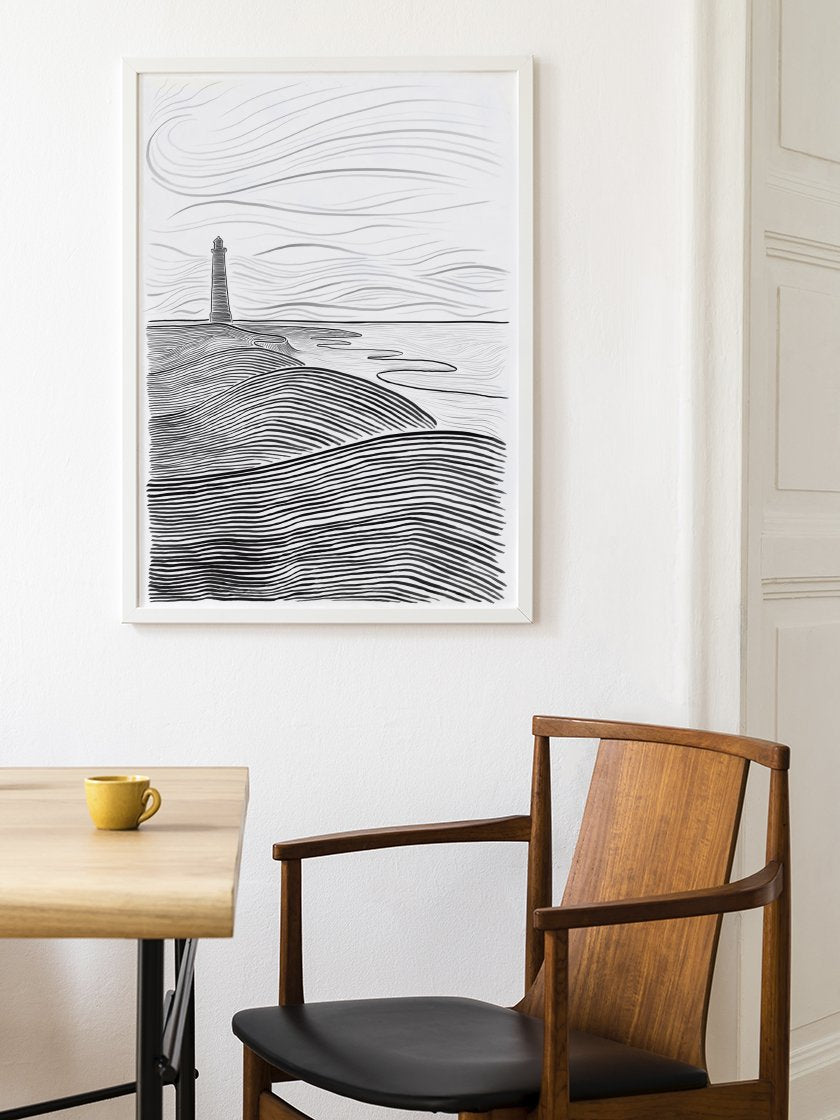 danish-seaside-poster-in-interior-dining-room