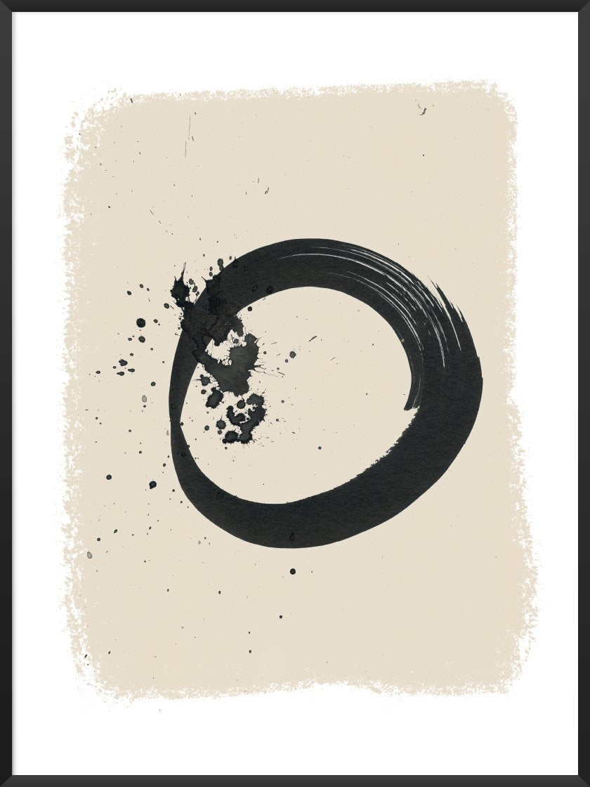 ENSO - Handpainted Circle Poster