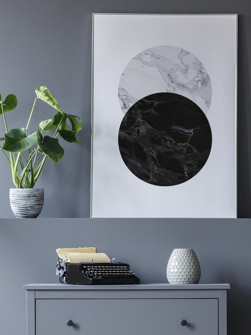 full-moon-marble-poster-in-interior-hallway