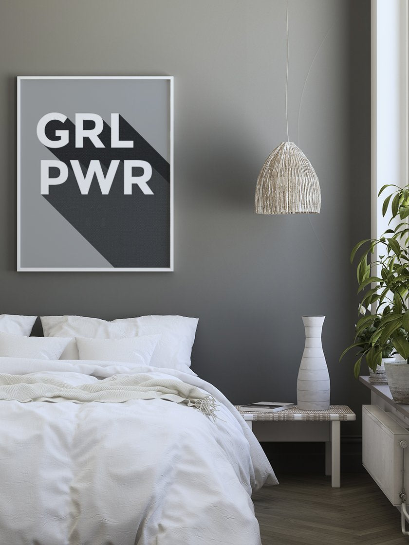 girl-power-poster-in-interior-bedroom