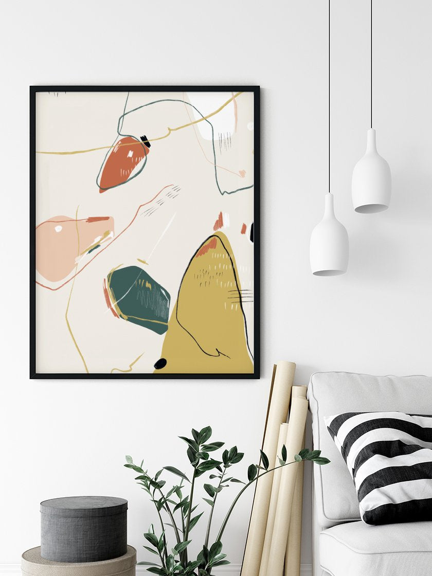 Hygge Sunshine - Abstract Shapes and Lines Poster