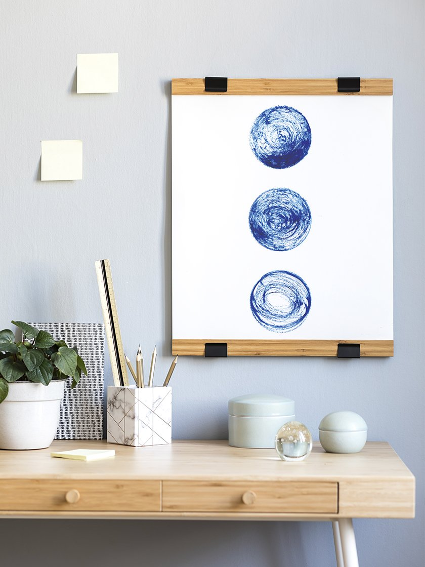project-nord-les-lunes-bleues-blue-circles-poster-in-interior-home-office