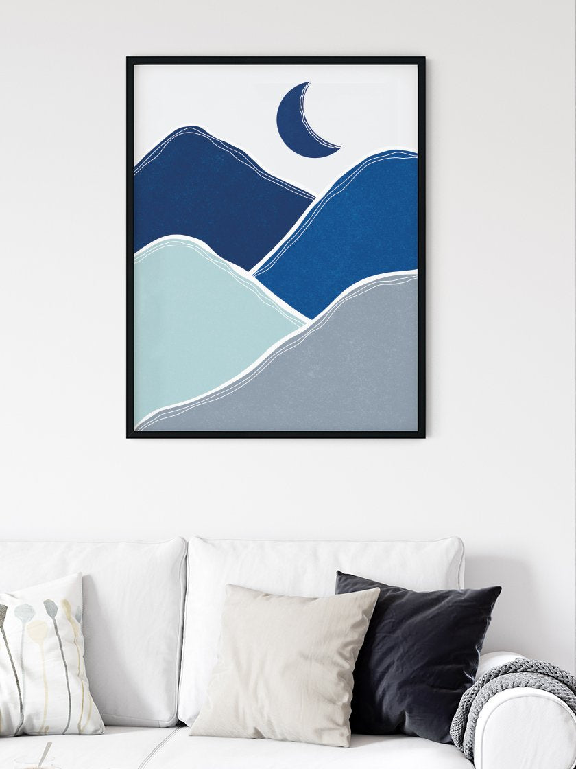Midnight Glimmer - Blue Mountains Poster