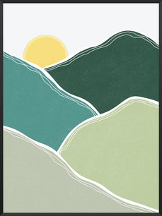 Morning Glory - Green Mountains Poster
