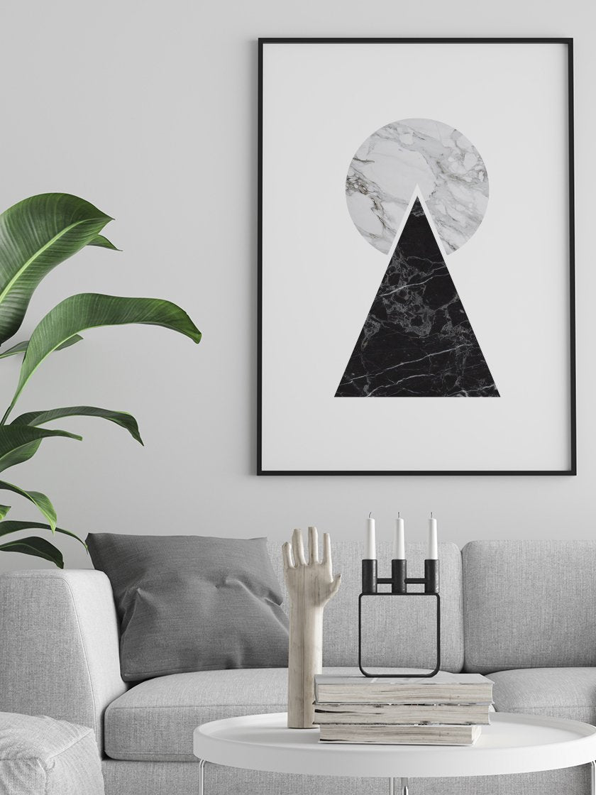marble-pyramid-poster-in-interior