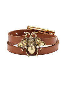 Leather Bumble Bracelet.