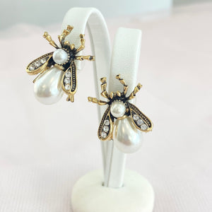 Pearl Bug Earrings.