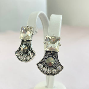 Vintage Ash Grey and Silver Earrings.