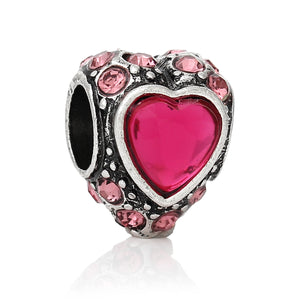 Sparkle Princess Heart Fuschia