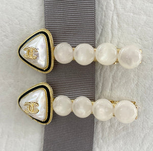 Pearlescent Stone CC Hair Slides