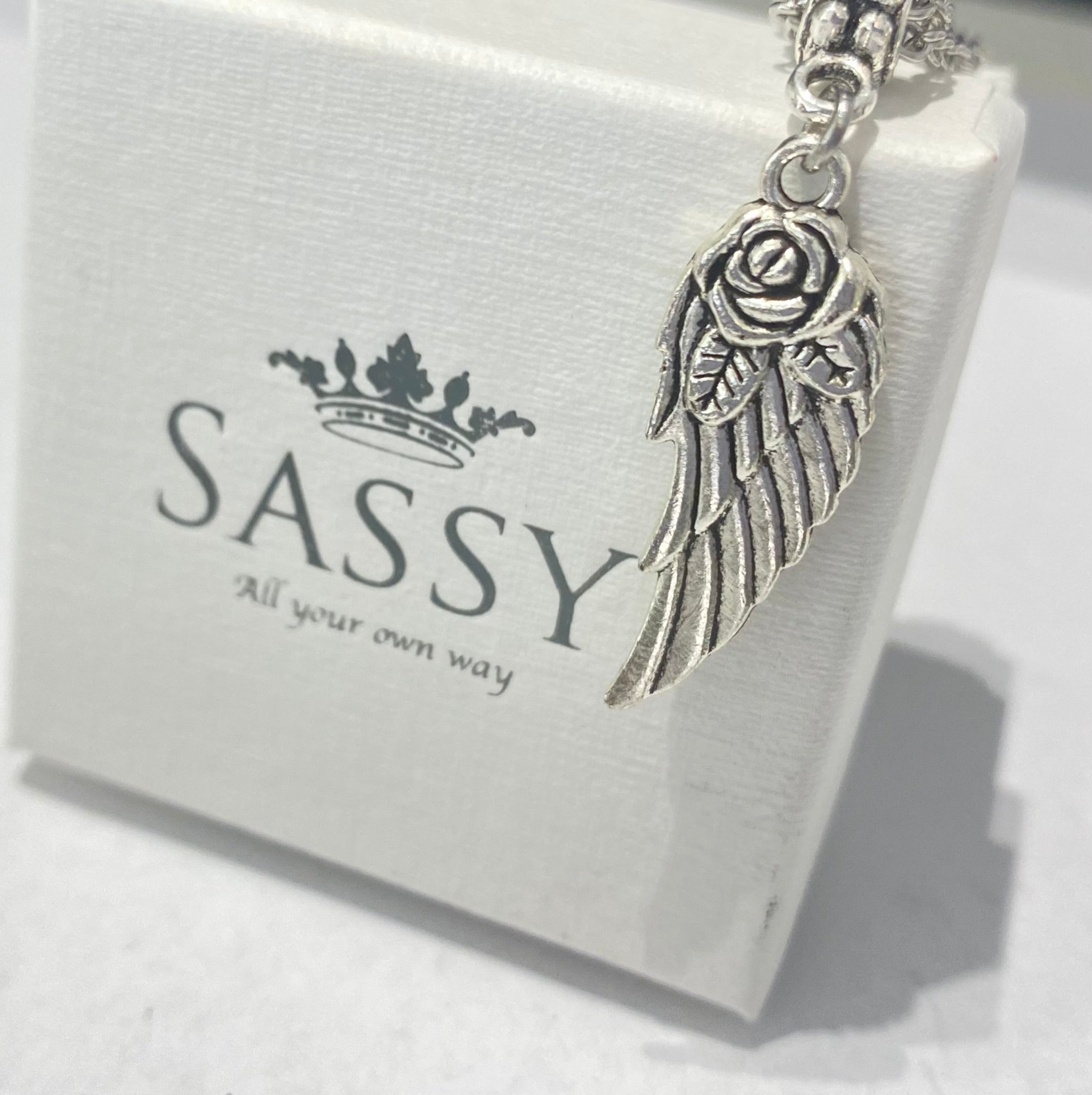 Rose Wings Dangle Charm