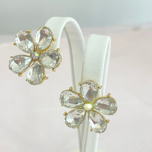 Crystal Clear Flower Studs.