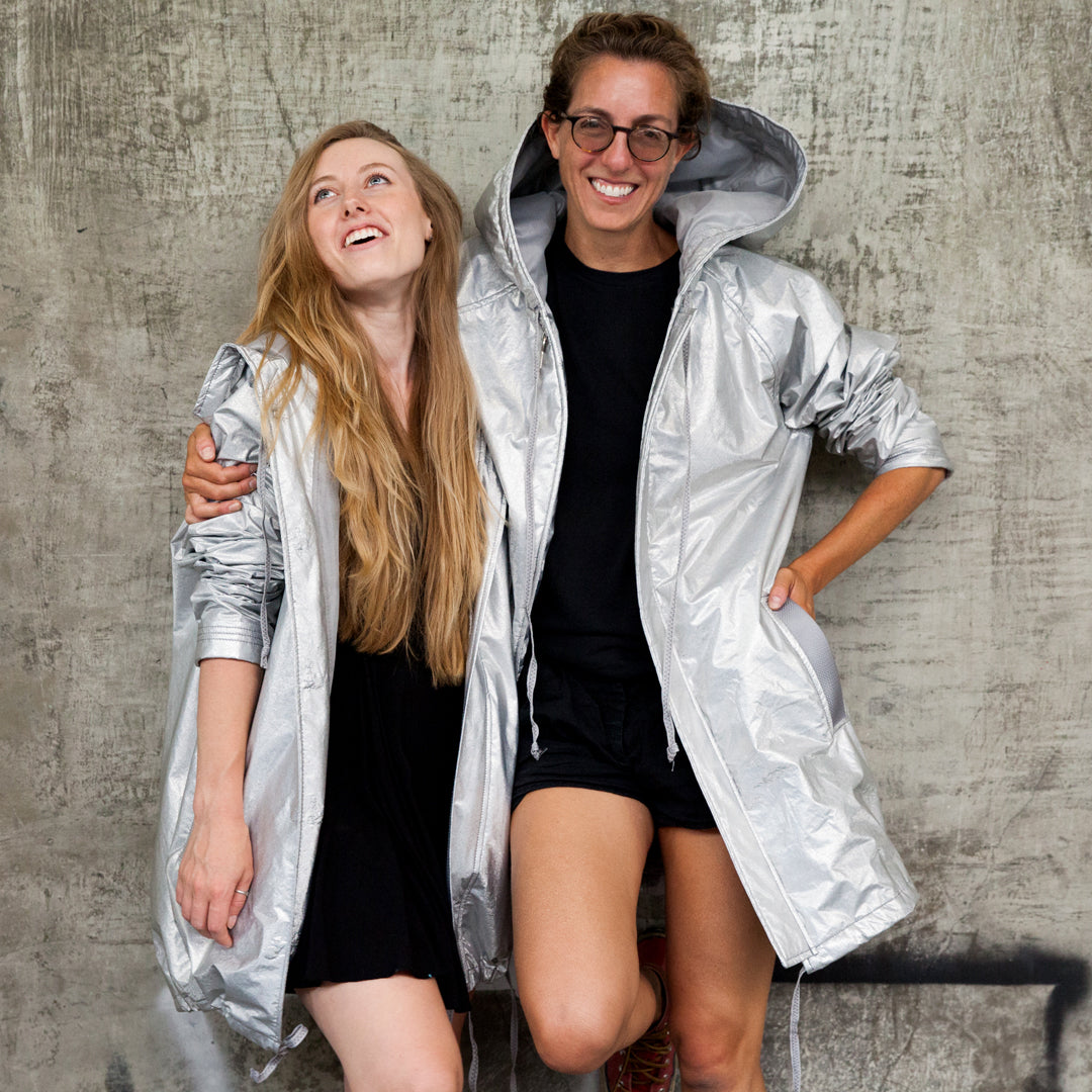 jenny and colly designing the zero waste jacket