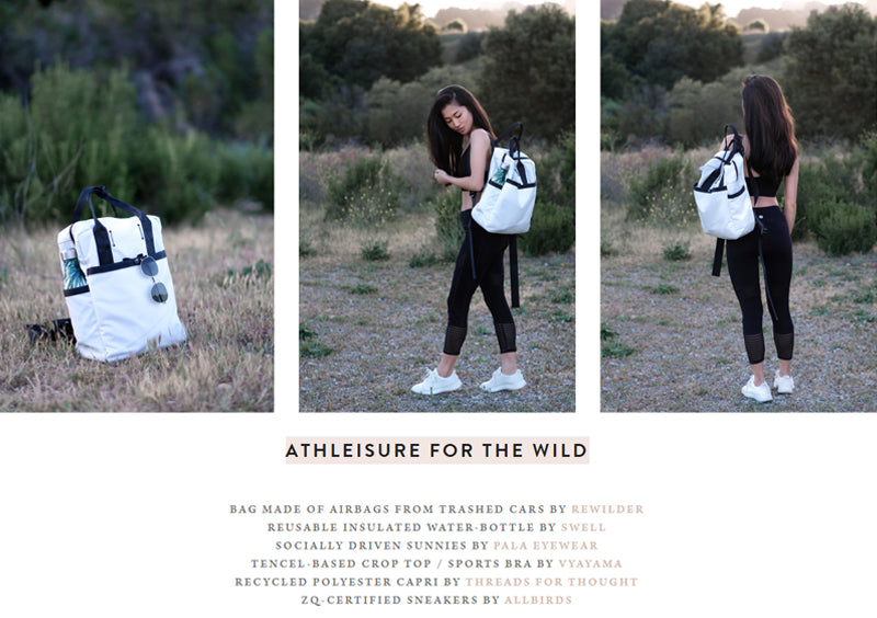 athleisure for the wild - best eco backpack