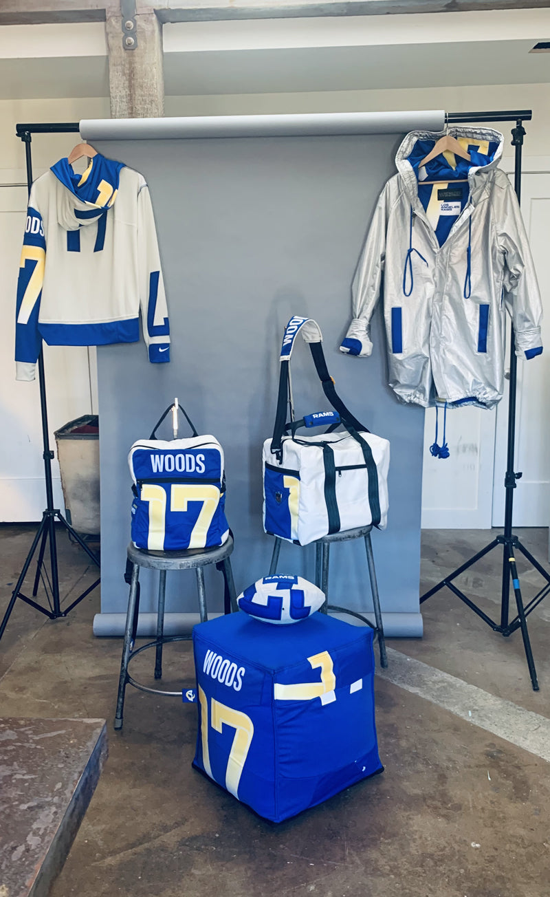 robert woods upcycle jerseys los angeles rams sustainability