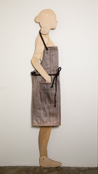 Lightweight urban apron upcycled from salvage material - Rewilder