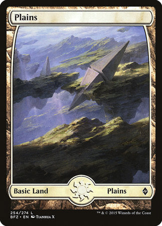 Plains (254) - Full Art [Battle for Zendikar] | Space Cadets Gaming Gaming