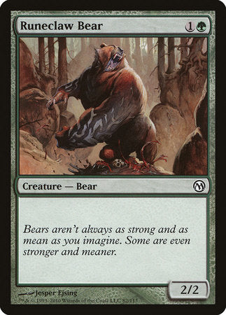 Runeclaw Bear [Duels of the Planeswalkers] | Space Cadets Gaming Gaming