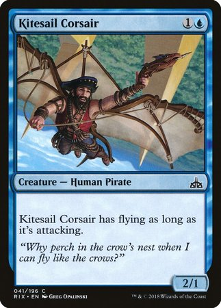 Kitesail Corsair [Rivals of Ixalan] | Space Cadets Gaming Gaming