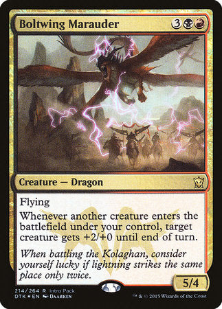 Boltwing Marauder [Dragons of Tarkir Promos] | Space Cadets Gaming Gaming