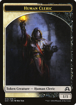 Human Cleric Token [Shadows over Innistrad Tokens] | Space Cadets Gaming Gaming