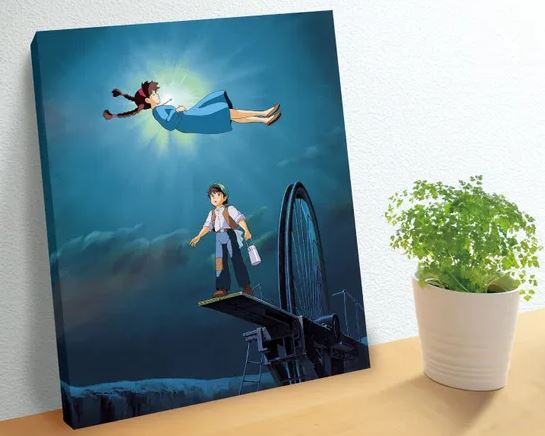 "The Girl Who Fell From The Sky ""Castle in the Sky"", Ensky Artboard Jigsaw Puzzle 