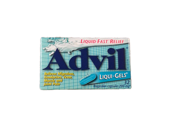 Advil Liqui-Gels for Migranes Headaches and Fevers