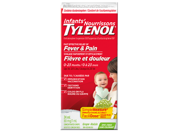 Tylenol Baby Fever and Pain Grape Flavor