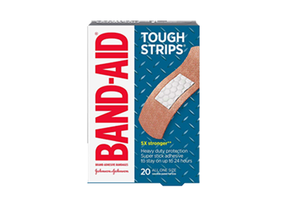 Band-Aid Tough Strips 20 All One Size