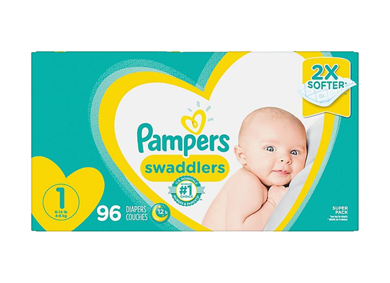Pampers Swaddlers Diapers Super Pack (Multiple Sizes Available)