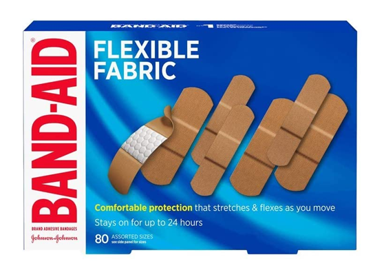 Band-Aid Flexible Fabric 80 Assorted Sizes