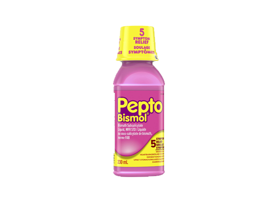Pepto Bismol Liquid for Nausea, Heartburn, Indigestion, Upset Stomach, and Diarrhea